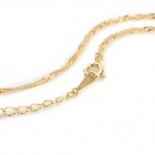 R-1112 Rhinestone Gold Plating Necklace for Women