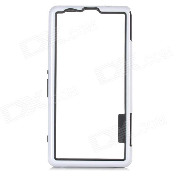Protective PC + TPU Bumper Frame for Sony Xperia Z1 Mini - White + Black protective tpu   pc bumper frame for lg