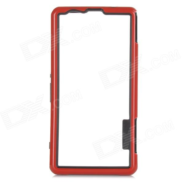 Protective PC TPU Bumper Frame for Sony Xperia Z1 Compact / Mini - Black + Red чехол вертикальный откидной для sony xperia z1 compact mini красный armorjacket