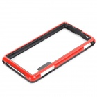 Protective PC TPU Bumper Frame for Sony Xperia Z1 Compact / Mini - Black + Red