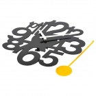 YKL021Acrylic Number Swing Wall Clock - Black