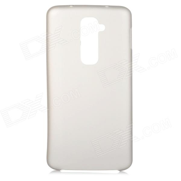 Stylish Plain Thin 0.3mm Plastic Back Case for LG Optimus G2 - Translucent Grey