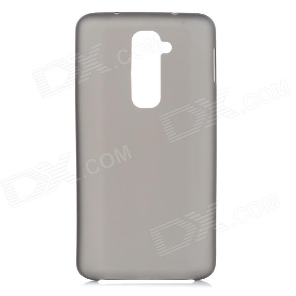 Stylish Plain Thin 0.3mm Plastic Back Case for LG Optimus G2 - Translucent Black