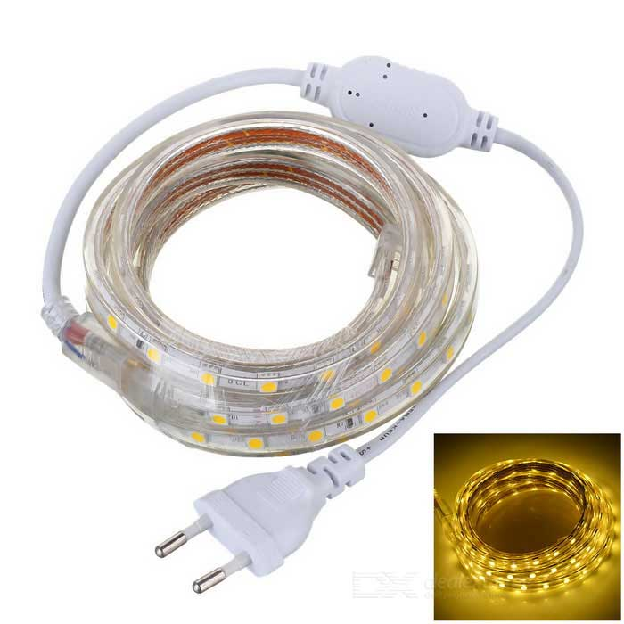 JRLED 26W 1800lm 3300K 120-5050 SMD LED Warm White Lamp Strip - White (AC 220V / 2m)