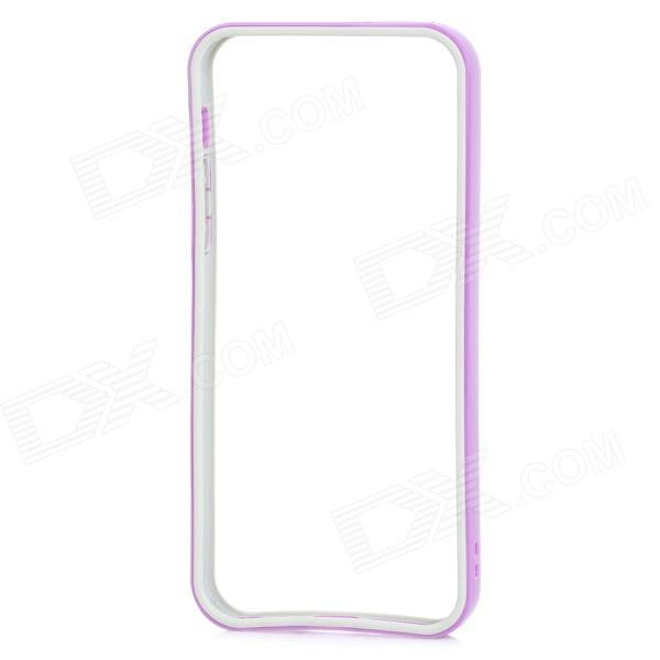 Protective TPU PC Bumper Frame for IPHONE 5 / 5s - Purple + Deep Grey for iphone 5s 5 lines texture tpu cover removable plastic frame grey