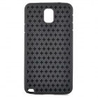 Stylish Cross Pattern Soft TPU Back Case for Samsung Note 3 / N9000 - Black