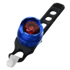 FJQXZ Red Light Water Resistant LED 3-Mode Warning Tail Lamp for Bicycle - Blue