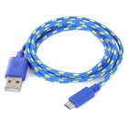 Nylon Vivienda USB macho a Micro USB macho de sincronización de datos y cable de carga para el Amazon Kindle Touch + Más