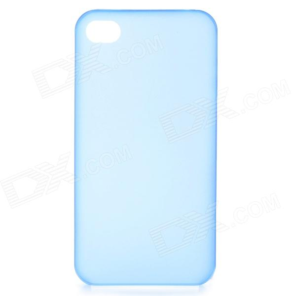 все цены на S-What 0.3mm Ultrathin Protective Frosted TPU Back Case for IPHONE 4 / 4S - Translucent Blue онлайн