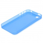 S-What 0.3mm Ultrathin Protective Frosted TPU Back Case for IPHONE 4 / 4S - Translucent Blue