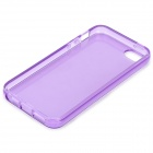 S-What Protective TPU Case for IPHONE 5 / 5S - Translucent Purple
