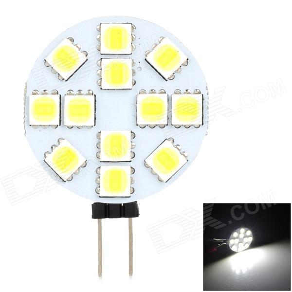 SENCART G4 MR11 3.5W 185lm 6500K 12-5060 SMD LED White Lamp - White + Light Yellow (9~36V)