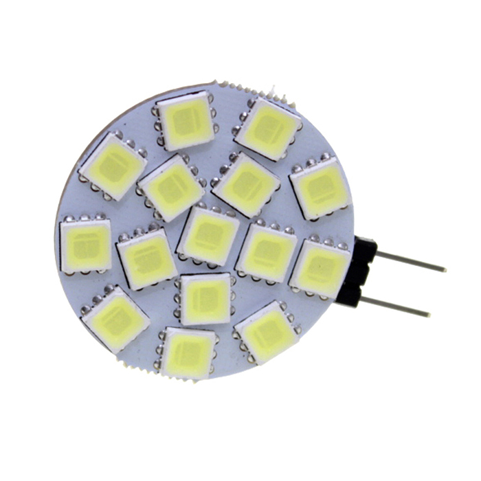 SENCART G4 MR11 4W 240lm 15-5060 SMD LED Cold White Lamp (9~36V)G4<br>Form ColorWhite + Light YellowColor BINWhiteBrandSENCARTModelG4MaterialPCBQuantity1 PiecePower4WRated VoltageOthers,9~36 VConnector TypeG4Chip BrandEpistarEmitter Type5060 SMD LEDTotal Emitters15Theoretical Lumens260 lumensActual Lumens240 lumensColor Temperature12000K,Others,6000~6500KDimmablenoBeam Angle180 °Packing List1 x Lamp<br>