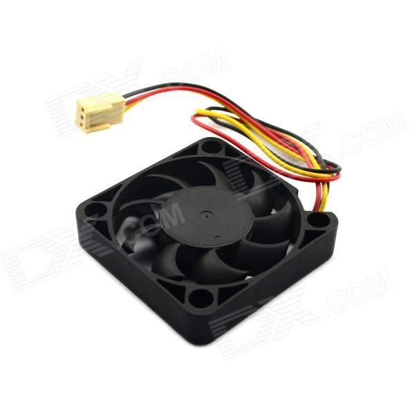Jtron 5 x 5cm Computer Fan / CPU Cooling Fan - Black (DC 12V) delta bub0812hd hm00 bj91 dc 12v 0 53a server blower fan