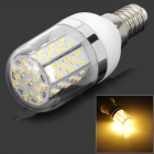 E14 5W 311lm 3500K 78-3014 SMD LED Warm White Lamp - White + Silver Grey + Multicolored (AC 85~265V)
