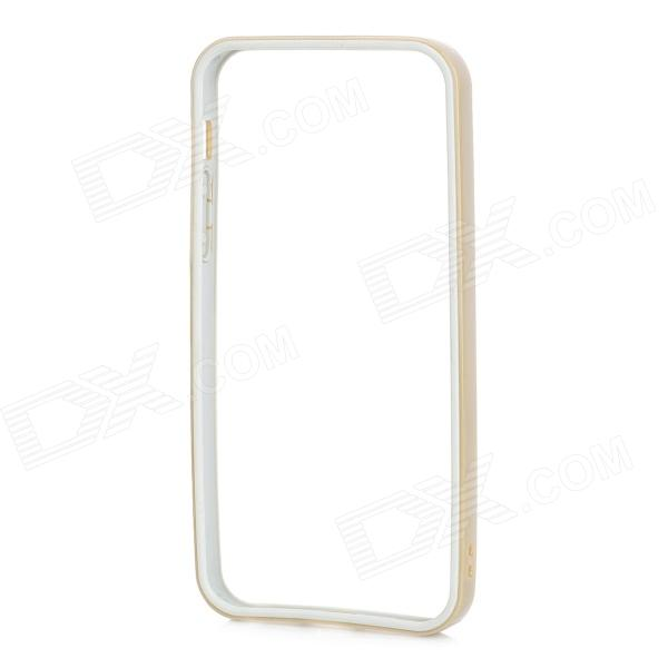 Protective TPU PC Bumper Frame for IPHONE 5 / 5s - Coffee + Grey