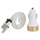 Buy USB Micro Charging/Data Cable + 3.1A Dual Car Cigarette Lighter Samsung / HTC (100cm)