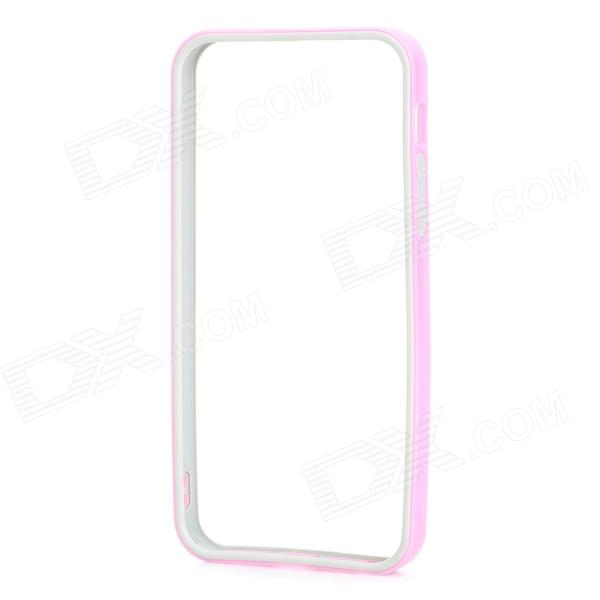 Protective TPU + PC Bumper Frame for IPHONE 5 / 5s - Pink + Grey protective tpu pc bumper frame for iphone 5 5s green grey