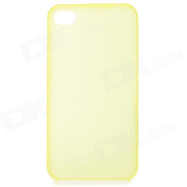 S-What 0.3mm Ultrathin Protective Frosted TPU Back Case for IPHONE 4 / 4S - Translucent Yellow