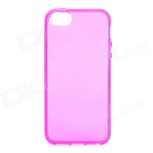 S-What Protective TPU Case for IPHONE 5 / 5S - Transparent + Deep Pink