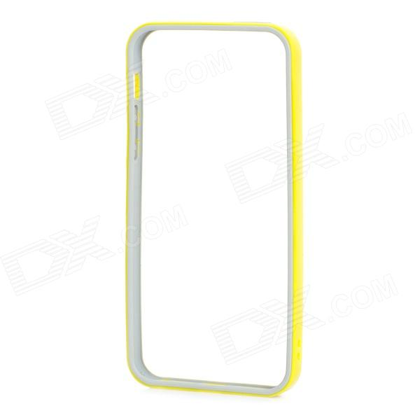 Protective TPU + PC Bumper Frame for IPHONE 5 / 5s - Yellow + Grey wholesale original dlp projector color wheel for optoma ep728i color wheel