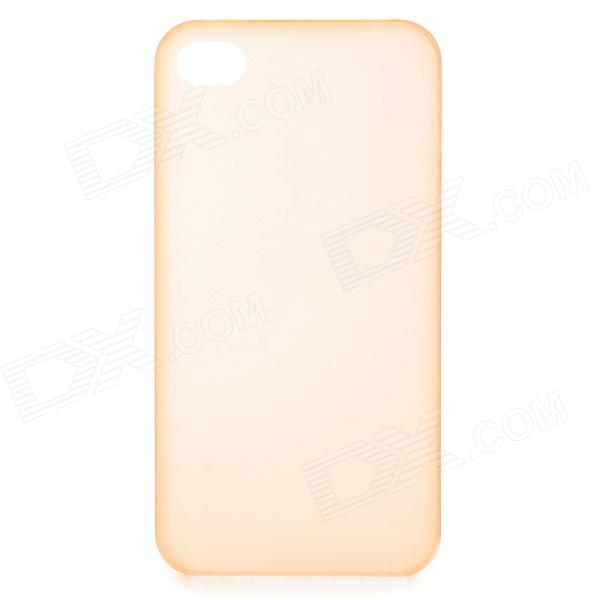 S-What 0.3mm Ultrathin Protective Frosted TPU Back Case for IPHONE 4 / 4S - Translucent Orange