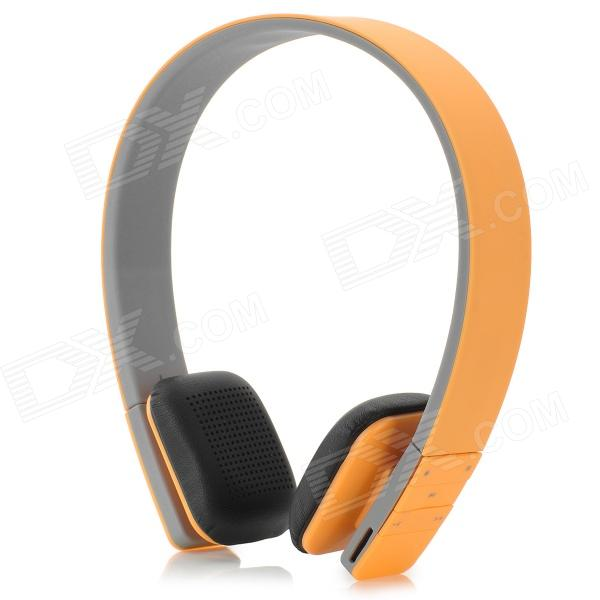 MP3 + FM + Voice Recorder + Card Reader Multifunctional Headband Headphones - Orange + Grey ks 508 mp3 player stereo headset headphones w tf card slot fm black