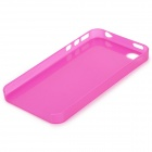S-What 0.3mm Ultrathin Protective Frosted TPU Back Case for IPHONE 4 / 4S - Deep Pink + Transparent