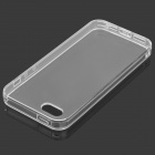 S-What Protective Matte TPU Back Case w/ Anti-dust Plug for IPHONE 5 / 5s - Transparent