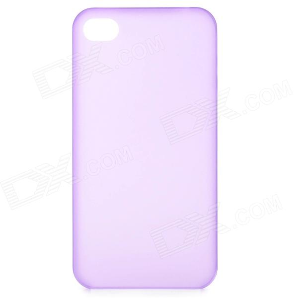 S-What 0.3mm Ultrathin Protective Frosted TPU Back Case for IPHONE 4 / 4S - Translucent Purple glossy tpu gel back protection case for iphone 7 plus light purple