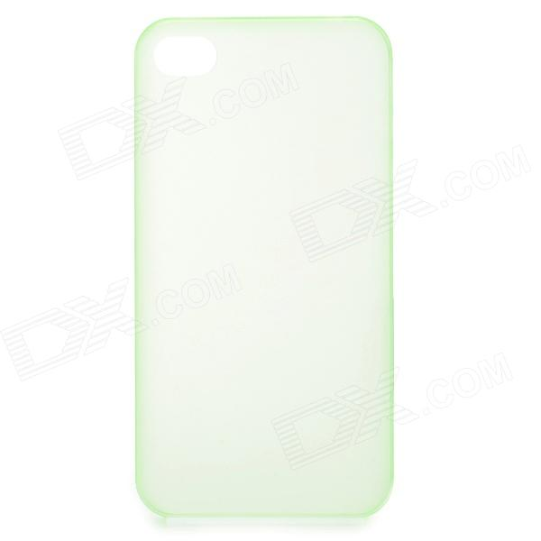 S-What 0.3mm Ultrathin Protective Frosted TPU Back Case for IPHONE 4 / 4S - Translucent Green turbo cartridge chra core gt1749v 701854 5004s 701854 turbocharger for audi a4 seat ibiza 2 leon vw caddy polo asv 1 9l tdi 88kw
