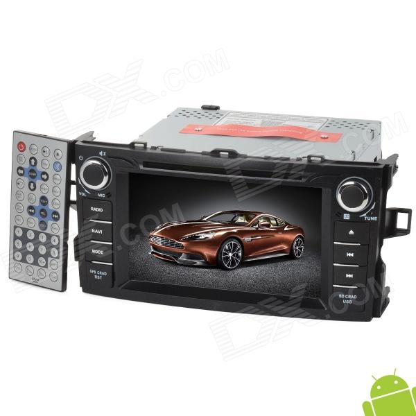 "7 ""Android 4.0 DVD-spiller m / GPS / TV / BT / PIP / WiFi / Kart / Wifi Dongle for Toyota 2012 Corolla"