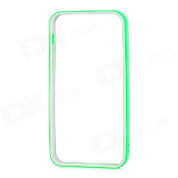 Protective TPU PC Bumper Frame for IPHONE 5 / 5s - Green + Grey protective tpu   pc bumper frame for lg