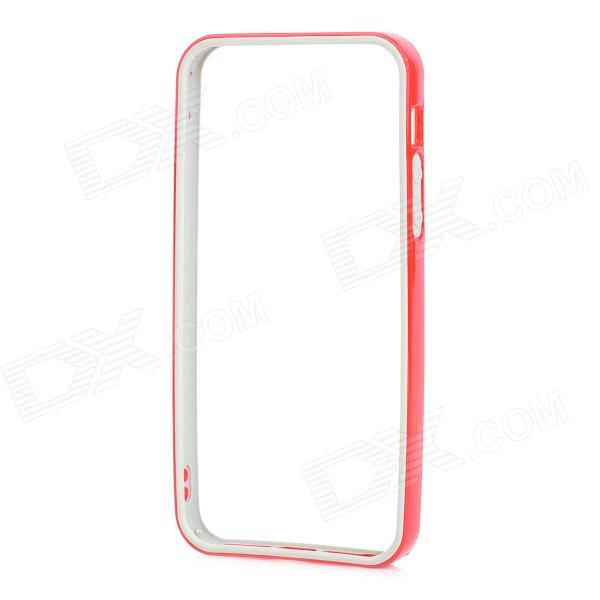Protective TPU PC Bumper Frame for IPHONE 5 / 5s - Red + Grey protective tpu   pc bumper frame for lg