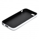 S-What Protective Matte TPU Ryggsekk m / Anti-støv Plug for IPHONE 5 / 5s-Svart + Hvit