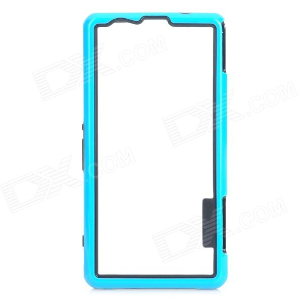 Protective PC TPU Bumper Frame for Sony Xperia Z1 Mini - Black + Blue protective pc tpu bumper frame case for sony xperia z1 l39h orange transparent