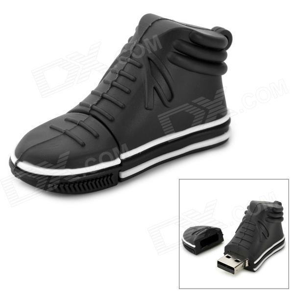 Mini Casual Shoe Style USB 2.0 Flash Drive - Black + White (4GB)