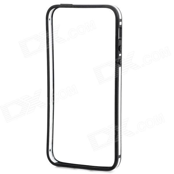 Protective Ultra Thin Bumper Frame for IPHONE 5 / 5s - White + Black ultra thin protective silicone bumper frame for iphone 5 black