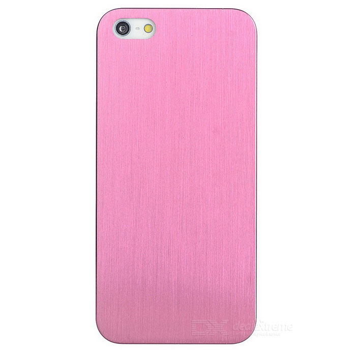 Protective Titanium Alloy Back Case for IPHONE 5 / 5S - Pink cool skull head style protective soft silicone back case for iphone 4 4s pink