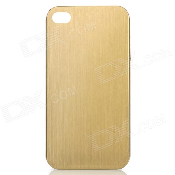 Protective Titanium Alloy Back Case for IPHONE 4 / 4S - Golden nillkin protective matte plastic back case w screen protector for iphone 6 4 7 golden
