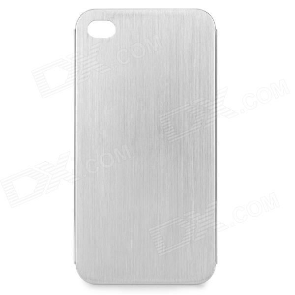 Protective Titanium Alloy Back Case for IPHONE 4 / 4S - Silver