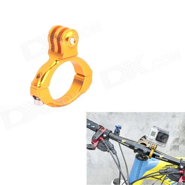 TOZ Universal Aluminum Bicycle Mount Clip for Gopro Hero 4/ 2 / 3 / 3+ / SJ4000 - Golden toz universal 1 4 camera tripod mount adapter w mount clip for gopro hero 4 2 3 3 sj4000