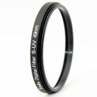 Kenko Ultrathin S-UV Camera Lens Filter - Black + Transparent (49mm)