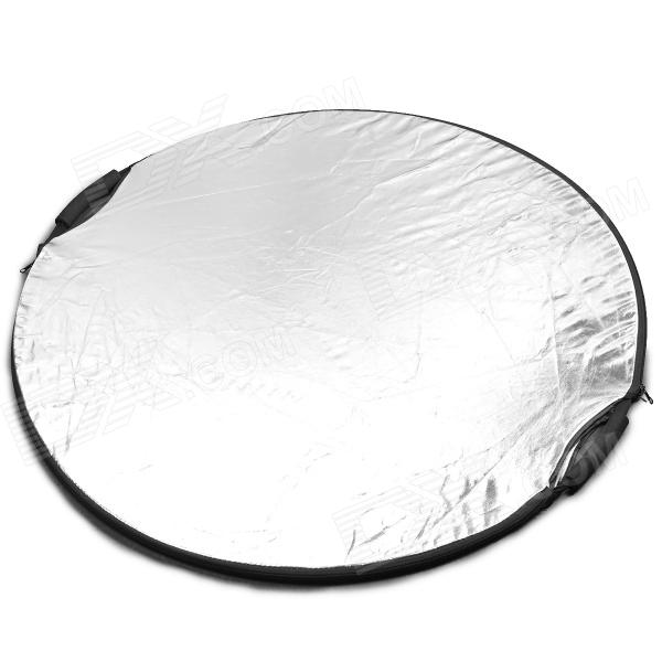 5-in-1 Light Multi Collapsible Reflector - Silver + Golden + Multi-Colored