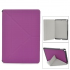 Transformable Protective PU Leather + Plastic Case for IPAD AIR - Purple