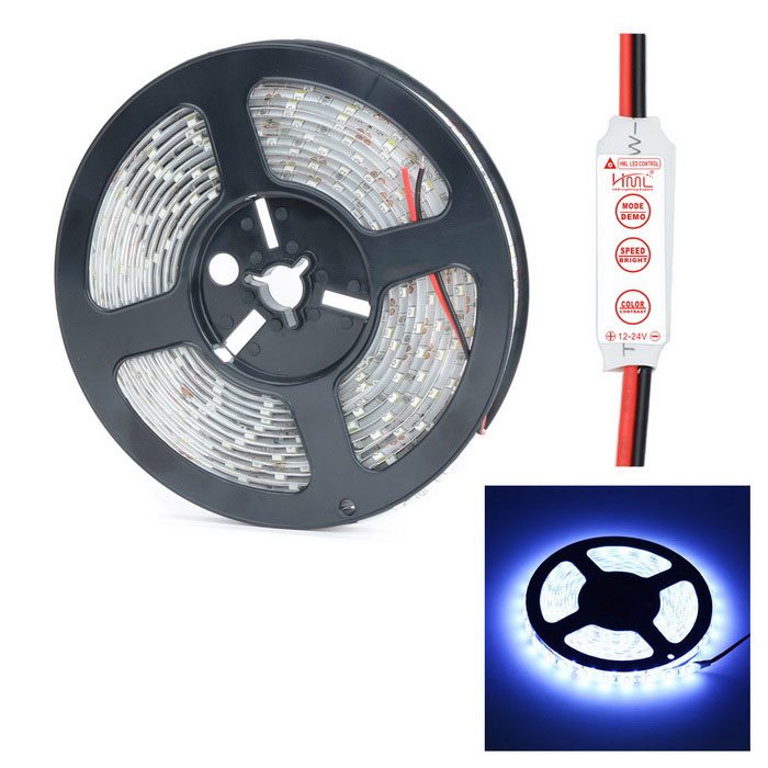 HML Waterproof 72W 14000lm 6500K 300 x SMD 5730 LED White Light Strip w/ Mini Controller (5m / 12V)