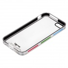 Zomgo Stylish Protective Plastic + Aluminum Alloy Back Case for IPHONE 5 / 5S - Transparent + Silver
