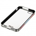 Zomgo Stylish Protective Plastic + Aluminum Alloy Back Case for IPHONE 5 / 5S - Transparent + Grey