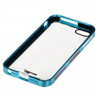 Zomgo Protective Plastic + Aluminum Alloy Back Case for IPHONE 5 / 5S - Transparent + Light Blue