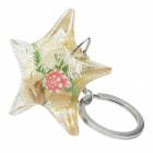 Cute Five-Pointed Star Ayclic Stainless Steel Keychain - Silver + Transparent